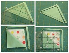 Diary of a Quilter - a quilt blog: Half-square-triangle short-cuts and easy square-up