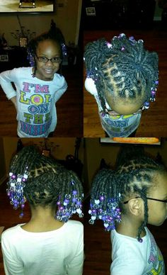 My daughter's loc due. Little girls lic styles. Just beautiful!!!