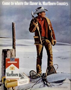 1972 Marlboro ad  It was January 1st 1971 when congress imposed a ban on Cigarette Advertising on TV.