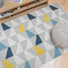Hackney Geo Rugs in Mustard