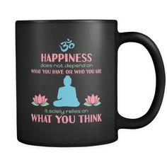 [product_style]-Buddhism Happiness 11oz Black Mug-Teelime