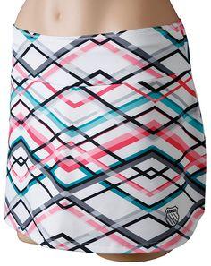 K-Swiss Retro Hem Tennis Skirt is adorable!  Love the colors!