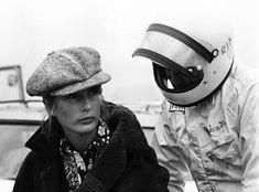 Forgotten Vintage Style Icon du Jour: Nina Rindt Bitchy Resting Face, Jochen Rindt, Mod Look, Racing Events, Androgynous Fashion, Vintage Racing, Graphic Tee Shirts, Her Style, Vintage Fashion