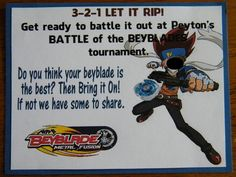This year Big Guy wanted a Beyblade party. In case you don't know, Beyblade is the hottest craze amongst kids right now. It's all about the...