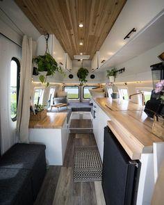 Van Conversion Interior, Camper Van Conversion Diy, Van Interior, Airstream Interior, Small Camper Trailers, Small Campers, Bus Living, Tiny Living, Diy Van Conversions