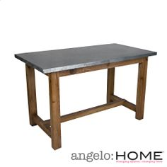 Bar Height   Angelo:HOME Brookdale Zinc And Wood Dining/Gathering Table |  Overstock