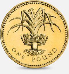 1985 & 1990 Leek and royal diadem Wales (One Pound) Coin Gold Eagle Coins, Silver Coins, One Pound Coin, English Coins, Coin Design, Commemorative Coins, World Coins, Rare Coins, Coin Collecting