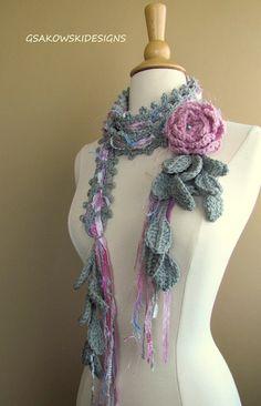Queen Ann Rose LariatPink Carnation by gsakowskidesigns on Etsy, $43.00