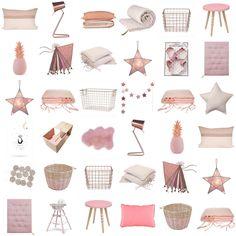 Nude, poudre, vieux rose, cuivre,... Deco Kids & Baby à retrouver sur www.range-ta-chambre.com