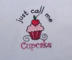 Baby Girl's Onesie Embroidered Cupcake White by ChainStitchers, $15.00
