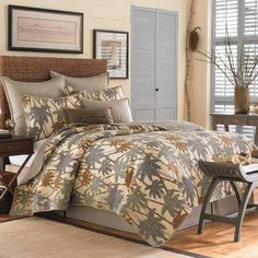 Tommy Bahama Drift Palm Quilt starting at $39.99 #bedding