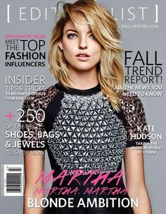 The Editorialist Fall 2014   Martha Hunt by Derek Kettela #Covers2014