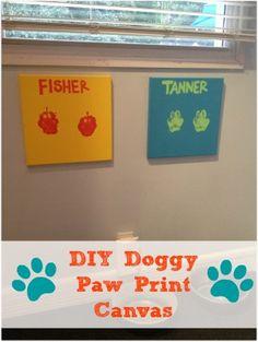 Doggy DIY: Doggy Canvas Prints