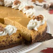 Pumpkin Cheesecake with Gingersnap Crust: King Arthur Flour