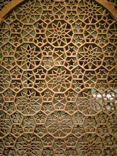 Jalis, or pierced screens, were used extensively in Indian architecture as windows, room dividers, and railings. In the course of the day, the movement of their patterns in silhouette across the floor wouid  enhance the pleasure of their intricate geometry.