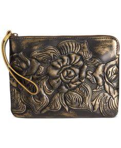 574f40fe9 Patricia Nash Metallic Tooled Cassini Wristlet & Reviews - Handbags &  Accessories - Macy's