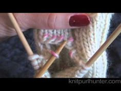 How to Pick Up Stitches to Knit a thumb for mittens or gloves - YouTube