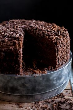 """Talk about chocolate overload! This amazing """"Blackout Cake"""" recipe w/ chocolate cake bases, pudding, & whipped icing surfaced during the blackout drills of WWII in Brooklyn."""