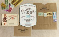 Flourish Letterpress and Wood Wedding Invitations | LETTERPRESS
