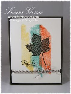 A La Cards: Magical Masking Tape Meets Magnificent Maple