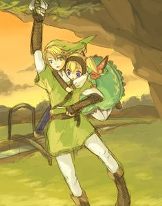 Co-operative bug hunting with Link and Agitha (from Zelda: Twilight Princess)