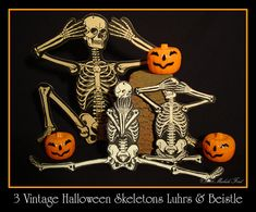 3 Vintage Halloween Skeletons H.E. Luhrs & Beistle by Michele Ford, via Flickr