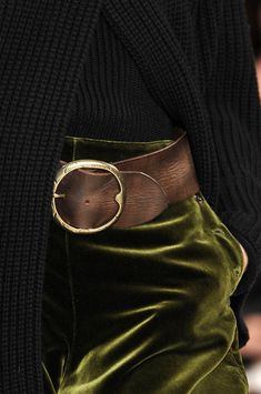 knit, velvet, leather, metal  ...love this combination of colors & textures