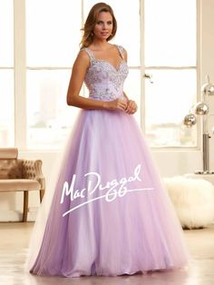 Lilac Purple Ball Gown | Princess Prom Dress | Mac Duggal 48262H