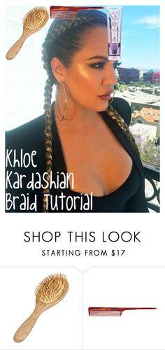 """Khloe Kardashian Braid Tutorial"" by oroartye-1 on Polyvore featuring beauty and Mason Pearson"