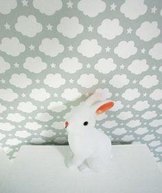 Tapisserie nuage lilipinso. Le Lapin Gris. E-shop d'accessoires de décoration pour chambres bébés et tout-petiots rempli de jolies choses et de belles idées.