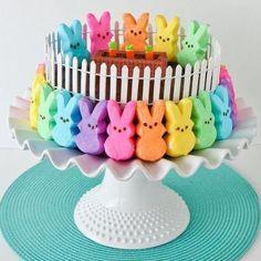 Peeps cake   #ExpressYourPeepsonality.