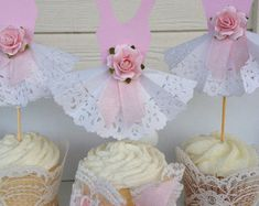 Vestido de fiesta Cupcake Toppers para Ballet o fiesta por JeanKnee