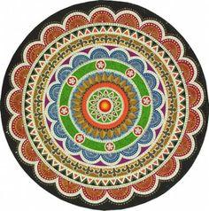Ismael Pereira. Mandala, acrílica sobre cerâmica   Reproduçao fotográfica autoria desconhecida