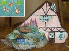 painted house on a rock