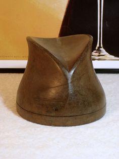 Rare Original 1940s Vintage Wooden Hat Block Mold Form Millinery Hat Making in Crafts, Other Crafts, Other Crafts | eBay