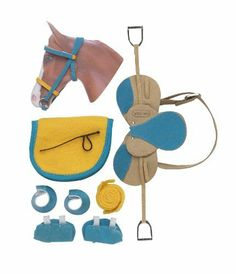 English Riding Set Hot Colors by Breyer. $19.39. New release. English accessories. Yellow and turquoise. English riding set. Hand Painted. From the Manufacturer Fun new colors make this set extra sharp. Saddle, bridle, saddle pad, crop, polo wraps, bell boots and splint boots come in the eye-opening combination of yellow and turquoise. Product Description Fun new colors make this set extra sharp! Saddl...