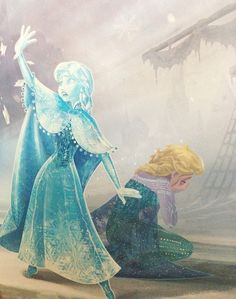 An act of true love ( Look closely, The way Anna shields Elsa with the whole of her body and is fully aware that she is going to get struck! If that's not love...)