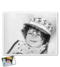 Hand Drawn Pencil Sketch from Photos - Look at those curls! Our artists pay attention to the finest details of your photos so that you can keep them forever. Beautiful Pencil Sketches, Cool Sketches, Pencil Sketch Portrait, Pencil Drawings, Sketch Paper, Portraits From Photos, Photo Look, How To Draw Hands, Fine Art Prints