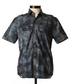 Affliction custom dawn plaid shirt  @Bootlegger