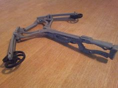 printed Crossbow by plaszlonet - Thingiverse 3d Printer Designs, 3d Printer Projects, 3d Design, Print Design, Zombie Apocalypse Weapons, 3d Things, 3d Printing Diy, Traditional Archery, Cool Inventions