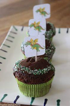Kerstins kreative Küche: Drachen Cupcakes
