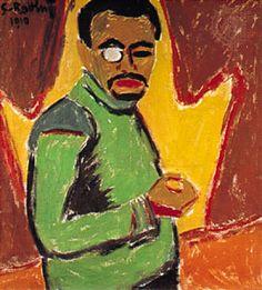 Karl Schmidt-Rotluff, self portrait - German expressionist painter (b. 1884)