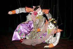 The puppet duet dance,Myanmar  www.odysseymyanmar.com