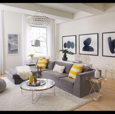 Pop Of Yellow To Brighten Up The E Designed By Tara Benet Design
