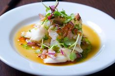 Otsumami taco carpaccio. (Octopus carefully prepared). It looks fantastic and tastes even better. #otsumami #carpaccio #nikon #foodpicture #foodporn #nikon_photography #bestoftoday #shinnori #linköping #food #östergötland #tako #bläckfisk #japanesefood @shinnori_lkpg