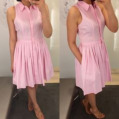 @anntaylorstyle Sleeveless Shirtdress, size 0P