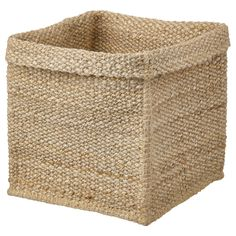 IKEA - TJILLEVIPS, Basket, jute, Jute is a durable material with natural color variations. Fits perfectly in KALLAX shelving unit and other units with shelves which are at least deep. All new materials have a particular smell which gradually disappears. Small Storage, Storage Boxes, Ikea Storage Baskets, Hanging Storage, Storage Containers, Ikea Basket, Wicker Baskets, Kallax Shelving Unit, Windows