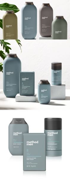 Last week the company launched the expansion of their successful grooming product line with Method Men which will now include body soaps and deodorants in addition to their awardwinning body washes. Skincare Packaging, Soap Packaging, Cosmetic Packaging, Beauty Packaging, Deodorant, Method Man, Bussiness Card, Cosmetic Bottles, Cosmetic Design