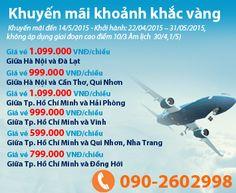 VietNam Airlines Khuyến Mãi Khoảnh Khắc Vàng Số 3(2015) Giá Vé Từ 599.000VNĐ