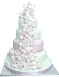 Marshmallow wedding cake